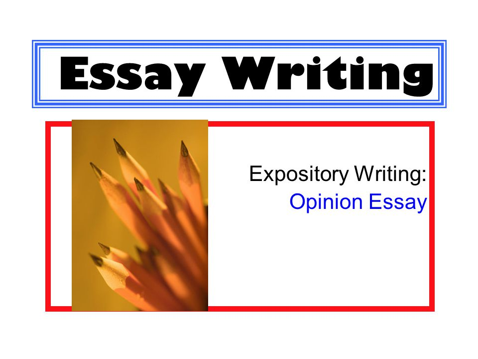 Writing Essay Papers