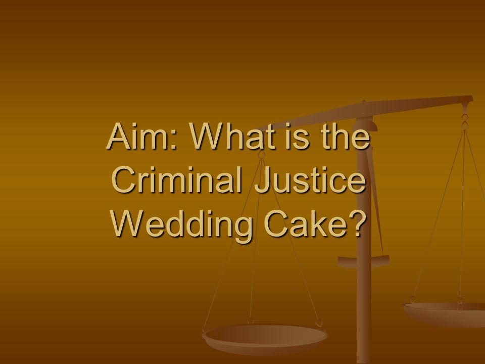 Criminal Justice Wedding Cake Presentation Transcript 1 Aim
