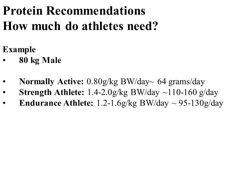 Protein Recommendations How much do athletes need.