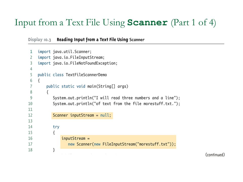 Input from a Text File Using Scanner (Part 1 of 4)