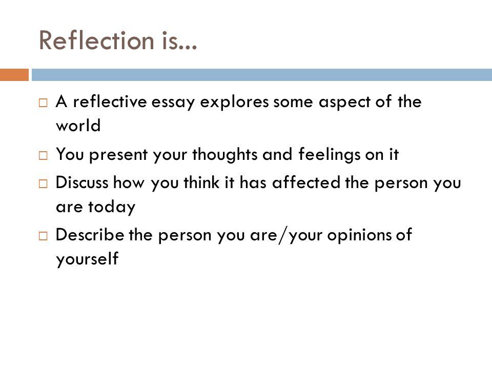 personal reflective essay on school