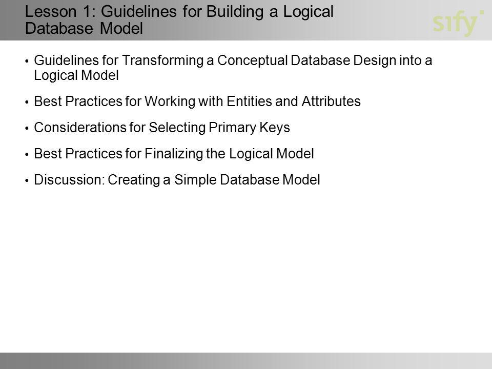 3 lesson - Database Design Guidelines