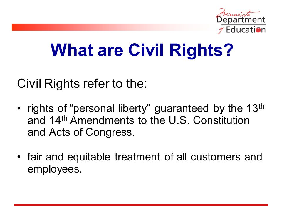 What are Civil Rights.