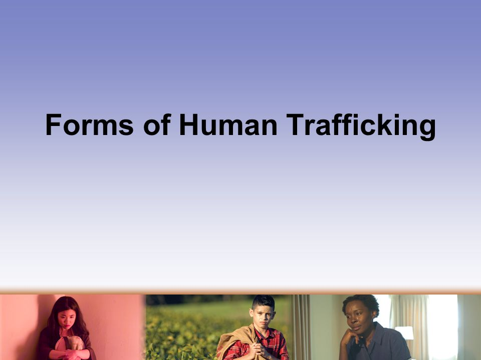 Forms of Human Trafficking