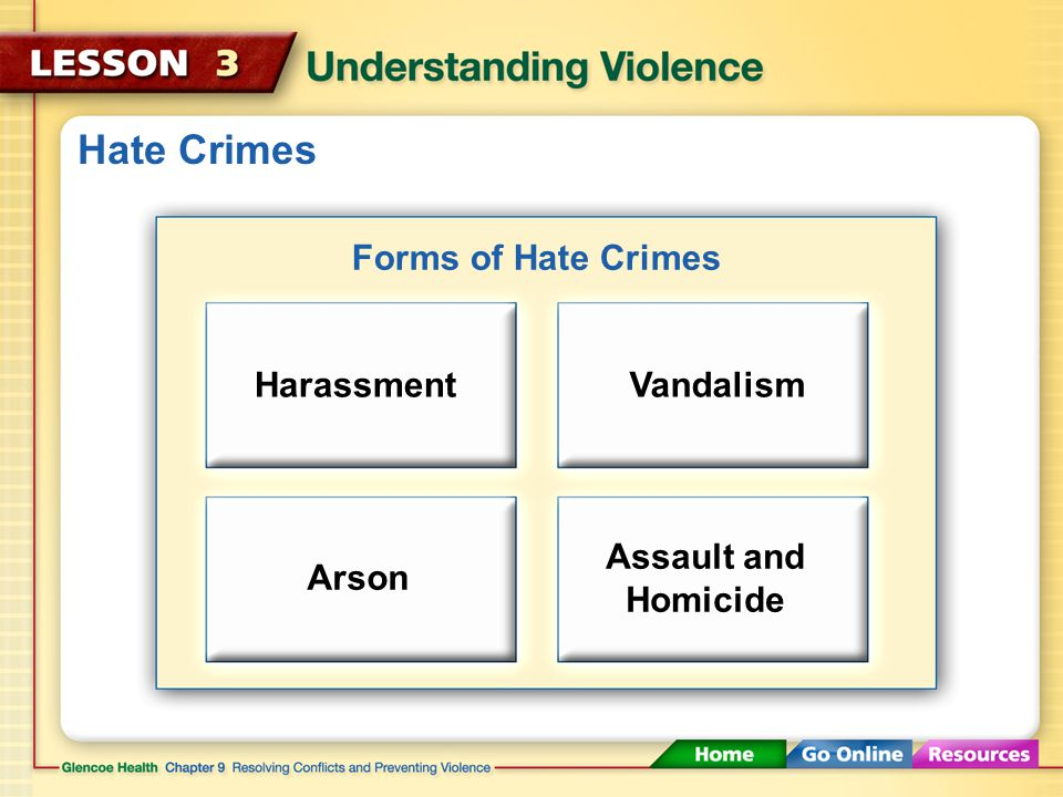 Hate Crimes A hate crime is any crime motivated chiefly by hatred of or prejudice against a particular group.