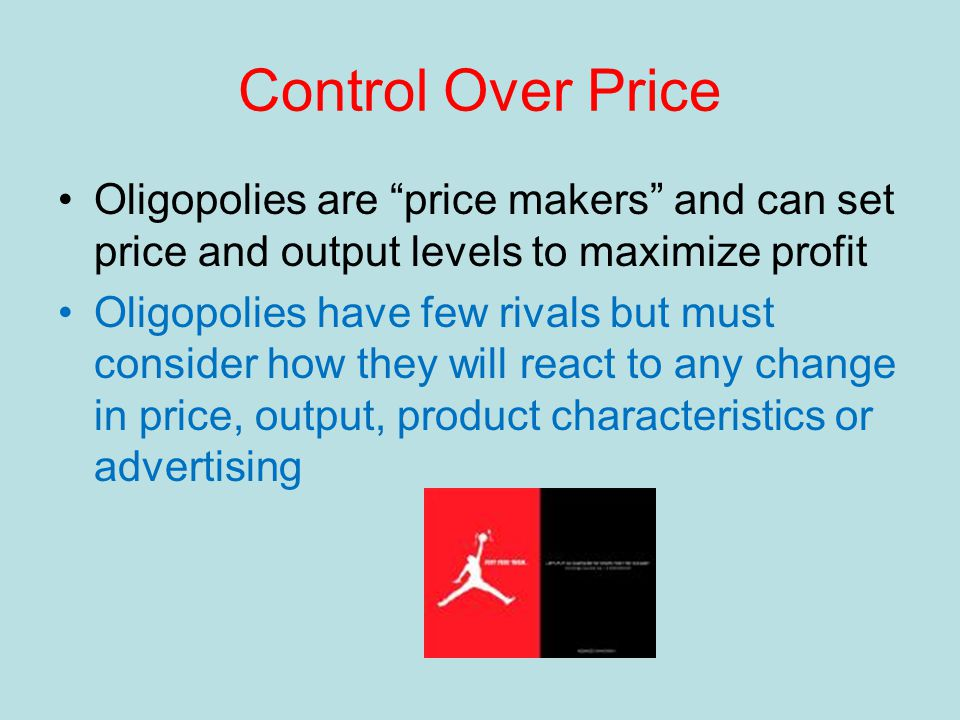 Differentiated Oligopoly An oligopoly in which the firms produce a differentiated product Considerable non-price competition through heavy advertising Ex- automobiles, sporting goods, tires