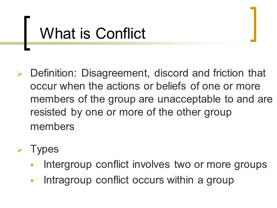 2 What Is Conflict  Definition: Disagreement, Discord ...