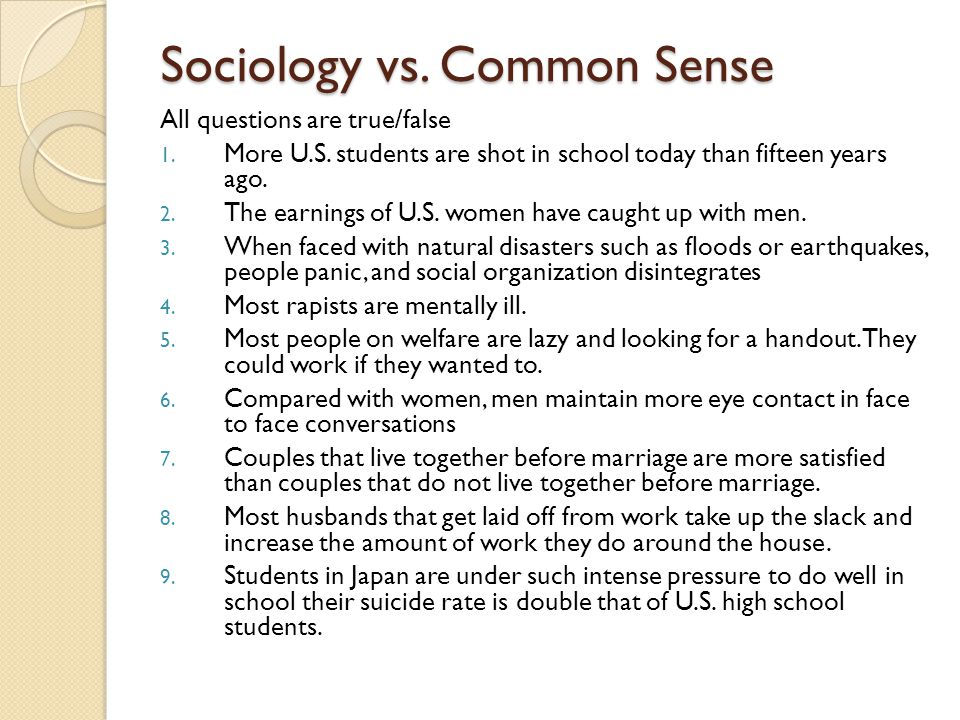 Sociology questions....?