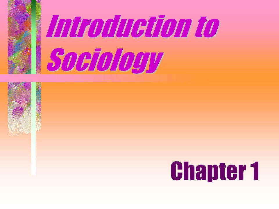 Introduction to Sociology Chapter 1