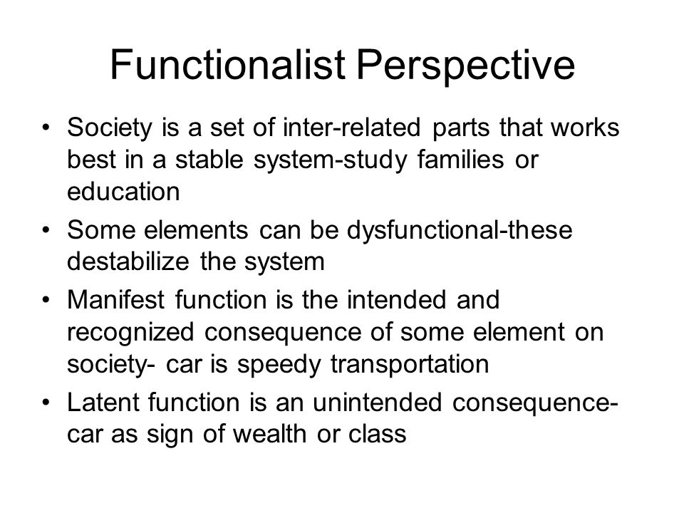 family functionalism conflict and interactionism