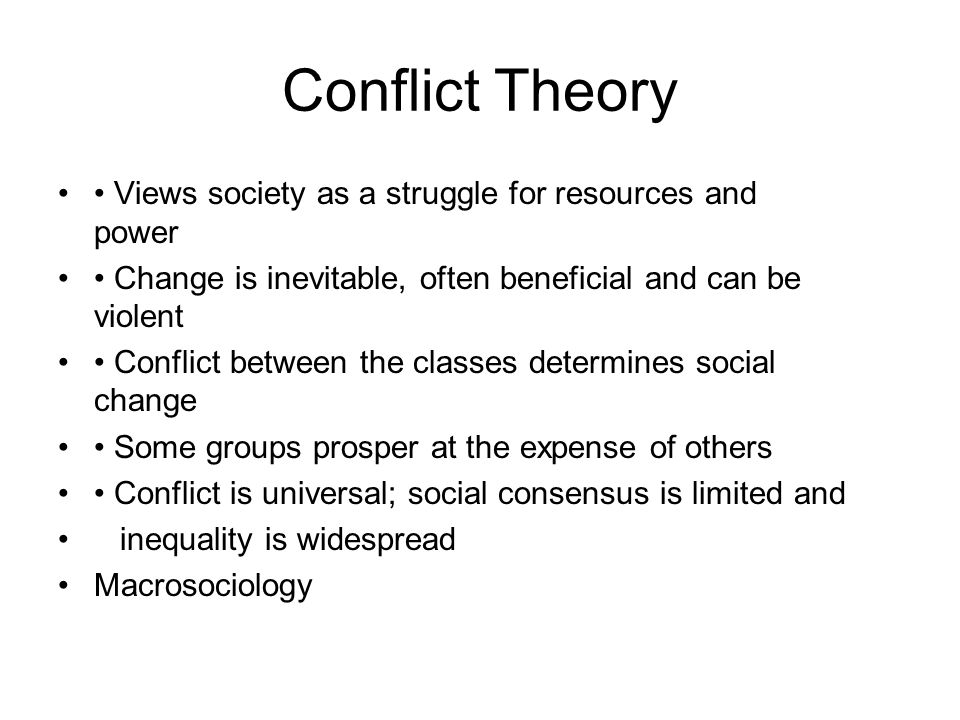 change and conflict theories and change