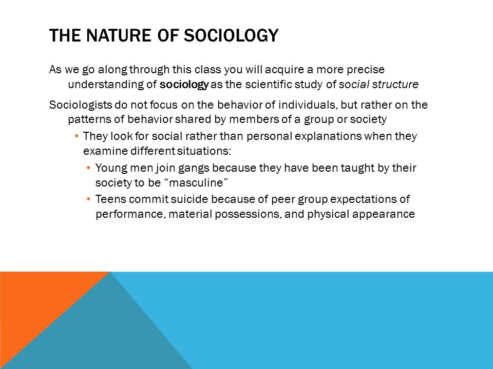 What is sociology in your own words not definitions from text book..?