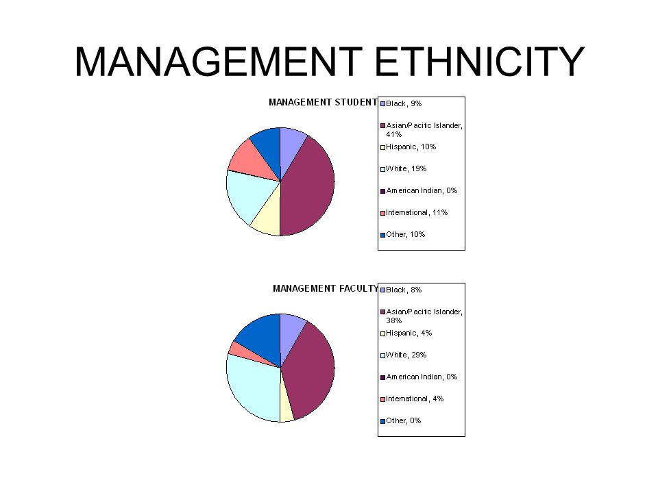 MANAGEMENT ETHNICITY