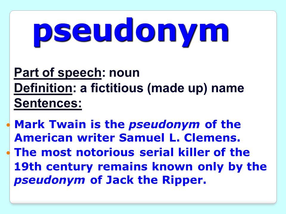 11 Pseudonym ...