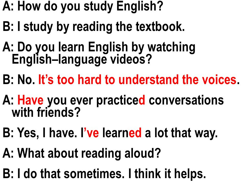 How to study for an English test?