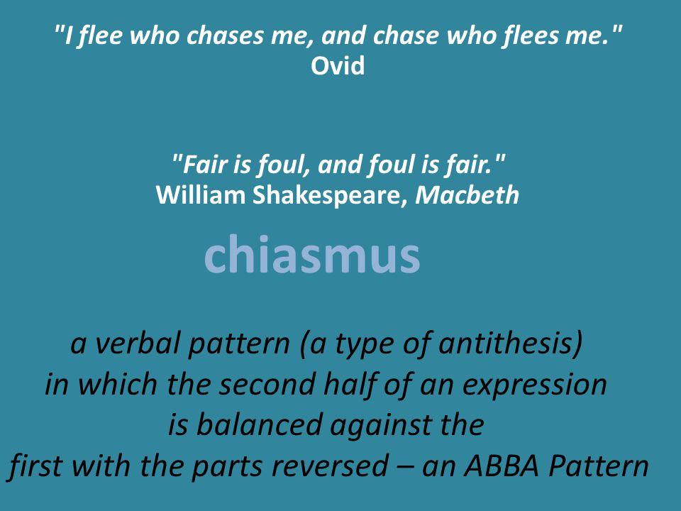 antithesis and chiasmus