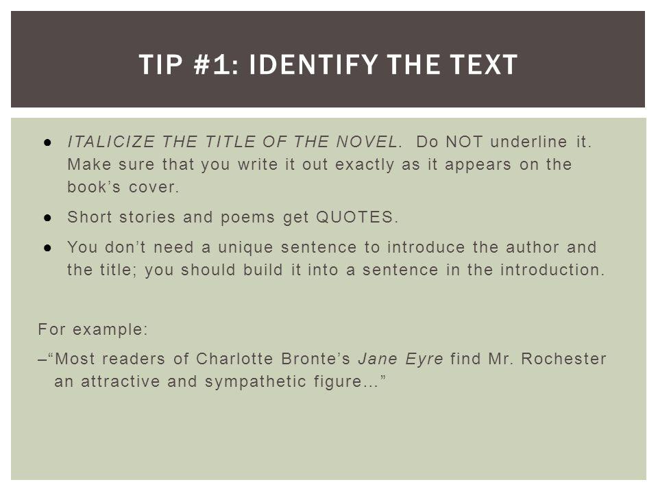 A good introduction for an essay on a novel?