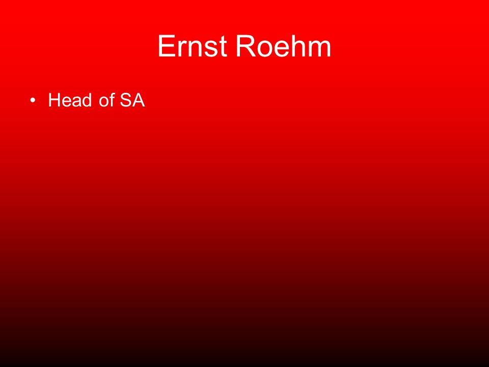 Ernst Roehm Head of SA