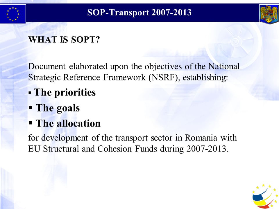 SOP-Transport WHAT IS SOPT.