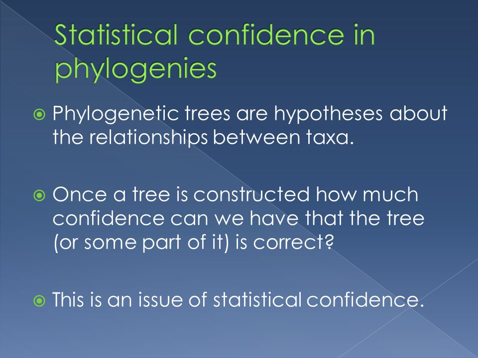  Phylogenetic trees are hypotheses about the relationships between taxa.