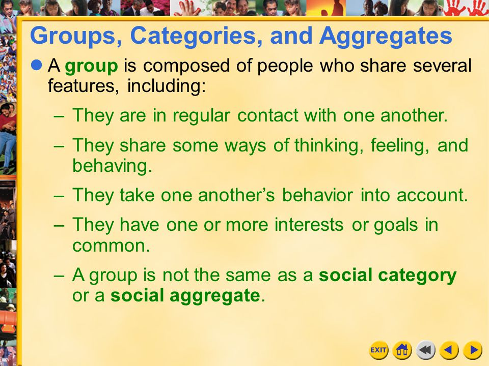 13 Chapter 18 In group settings, people take on roles and adopt appropriate norms and behaviors.