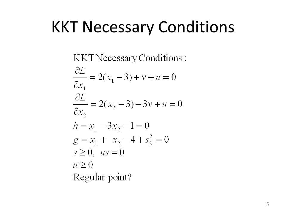 KKT Necessary Conditions 5