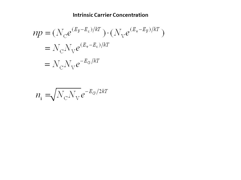 Boltzmann Approximation of Fermi Function Intrinsic Carrier Concentration