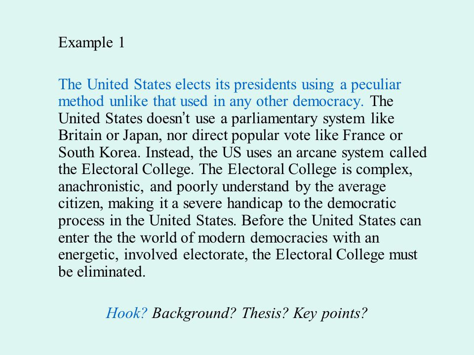 presidential voting essay Presidential candidates essays: over 180,000 presidential candidates essays, presidential candidates term papers, presidential candidates research paper, book reports 184 990 essays, term and research papers available for unlimited access.