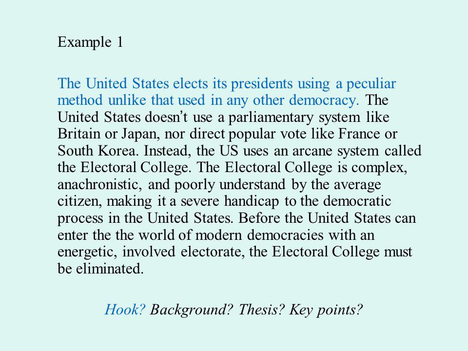 Electoral College Essay