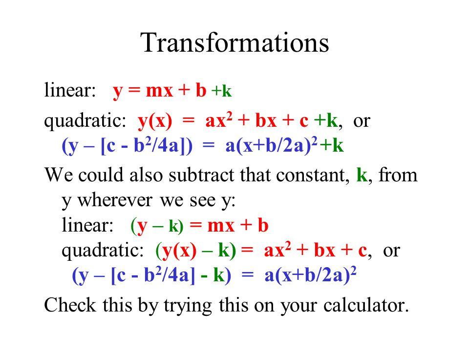 Y equals mx plus b? Explanation?