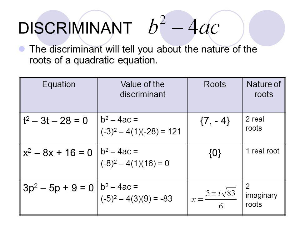 Solving Quadratic Equations: Using the Discriminant | EdBoost