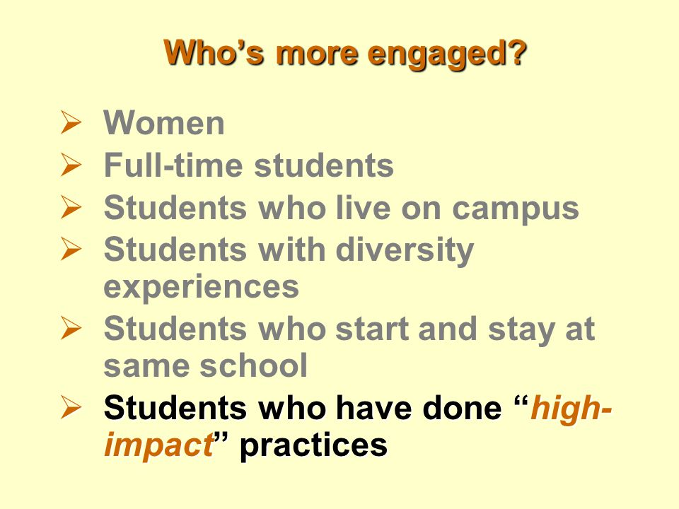 Who's more engaged.