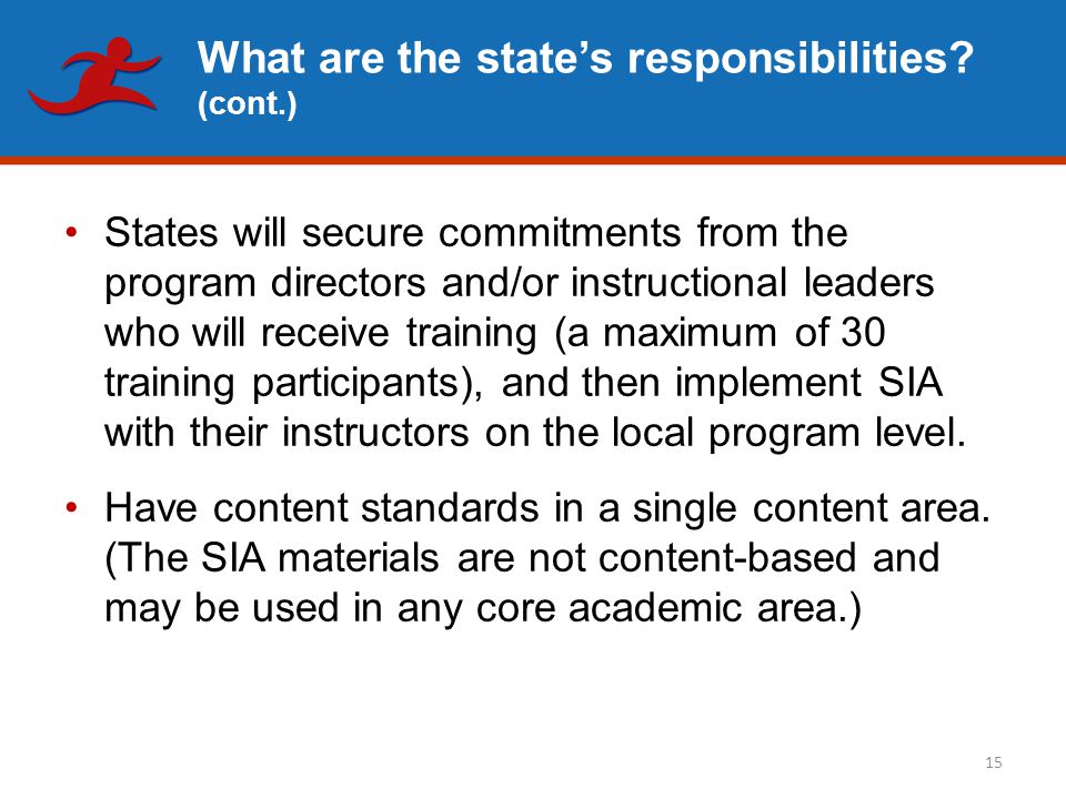 What are the state's responsibilities.