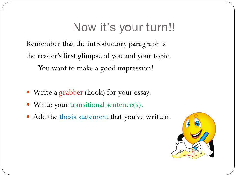 How do you write a good hook for your introductory paragraph?