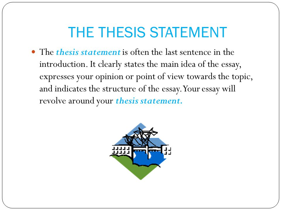 what is thesis statement and topic sentence