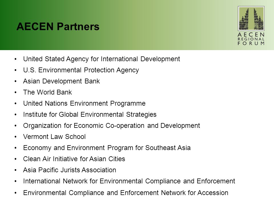 AECEN Partners United Stated Agency for International Development U.S.
