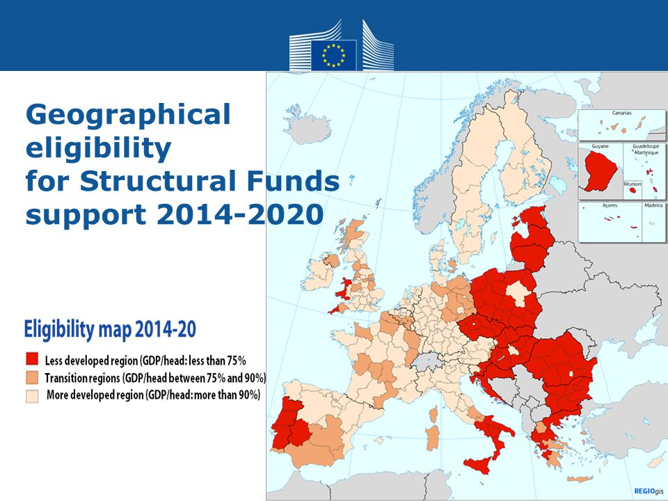 Regional Policy 18 Geographical eligibility for Structural Funds support