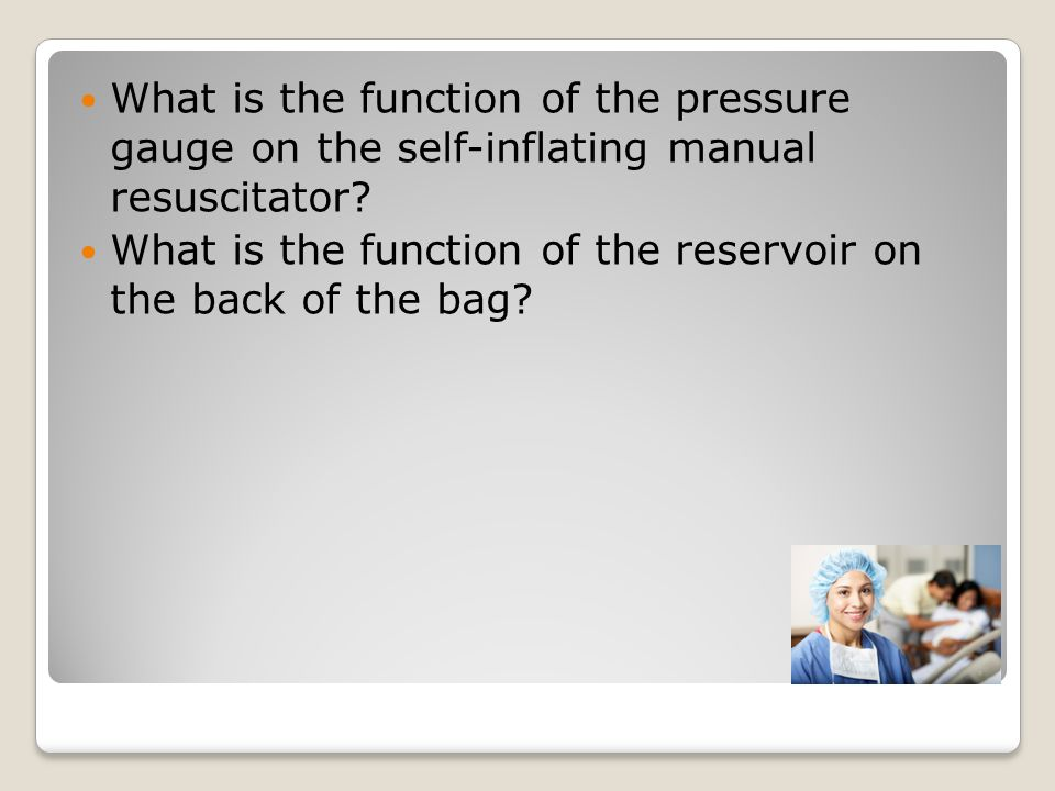 What is the function of the pressure gauge on the self-inflating manual resuscitator.