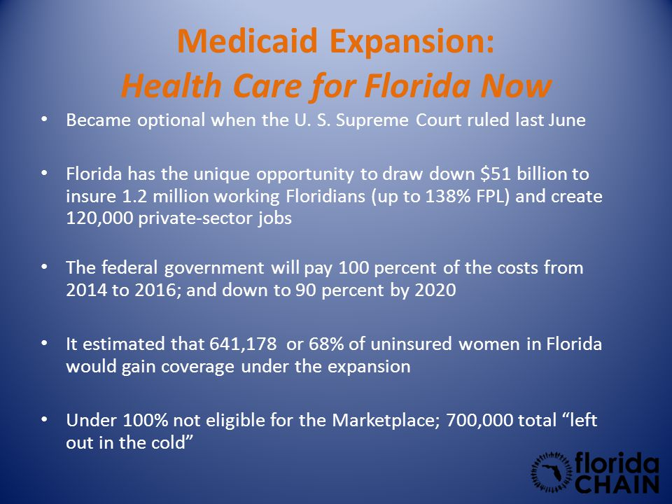 Medicaid Expansion: Health Care for Florida Now Became optional when the U.