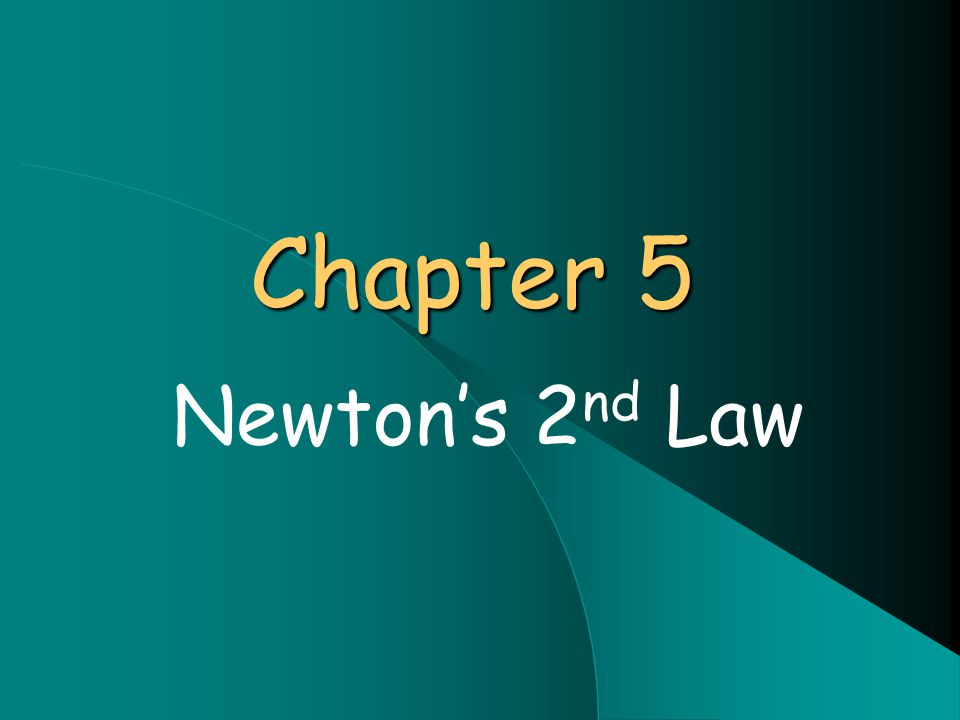 Chapter 5 Newton's 2 nd Law