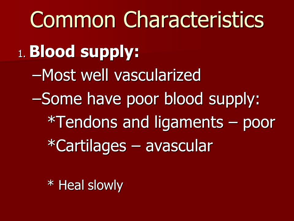 Common Characteristics 1.
