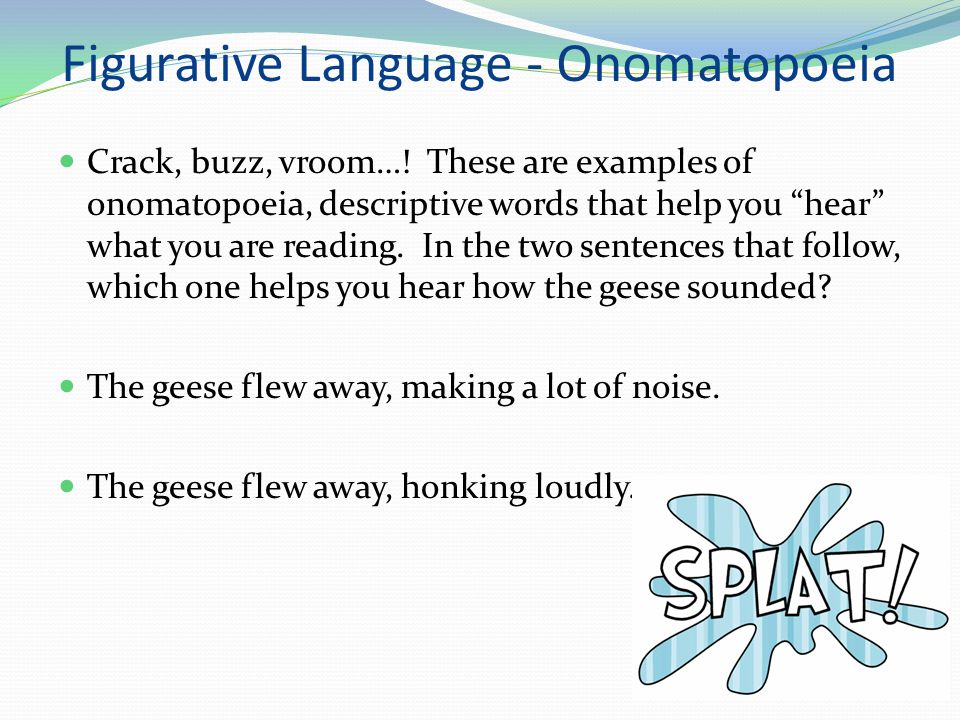 Example Sentence Of Onomatopoeia Figure Of Speech Images Example