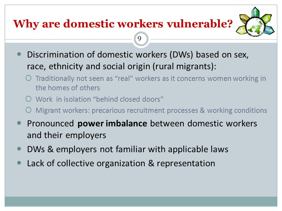 Why are domestic workers vulnerable.