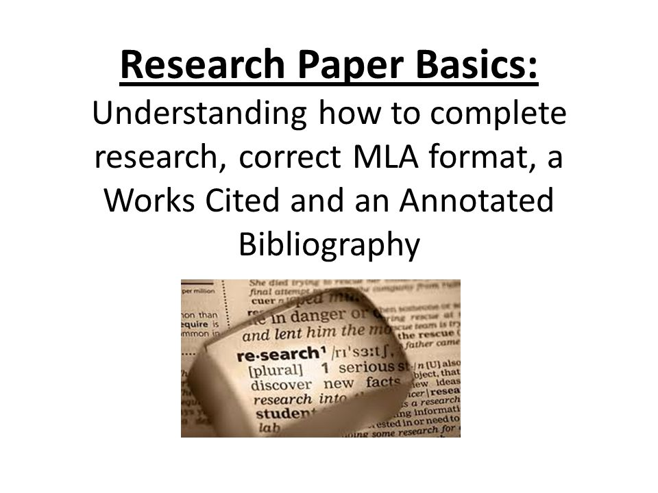 Complete research paper sample