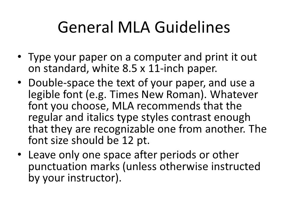 Formatting a Research Paper     The MLA Style Center studylib net The top of the first page of a works cited list