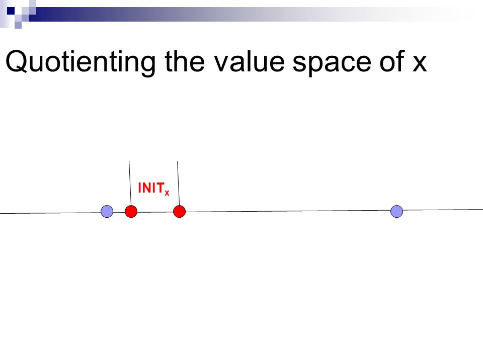 Quotienting the value space of x INIT x