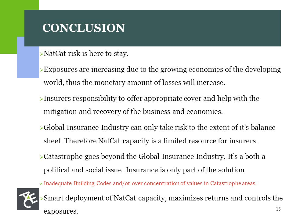 18  NatCat risk is here to stay.