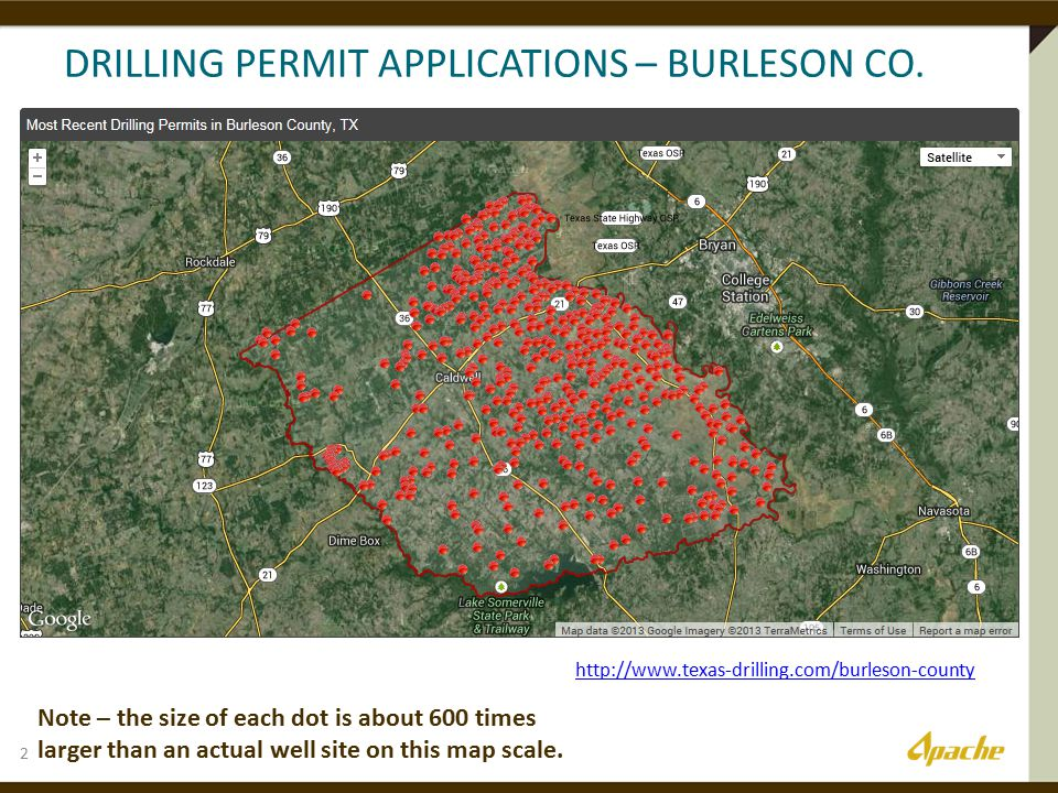 DRILLING PERMIT APPLICATIONS – BURLESON CO.