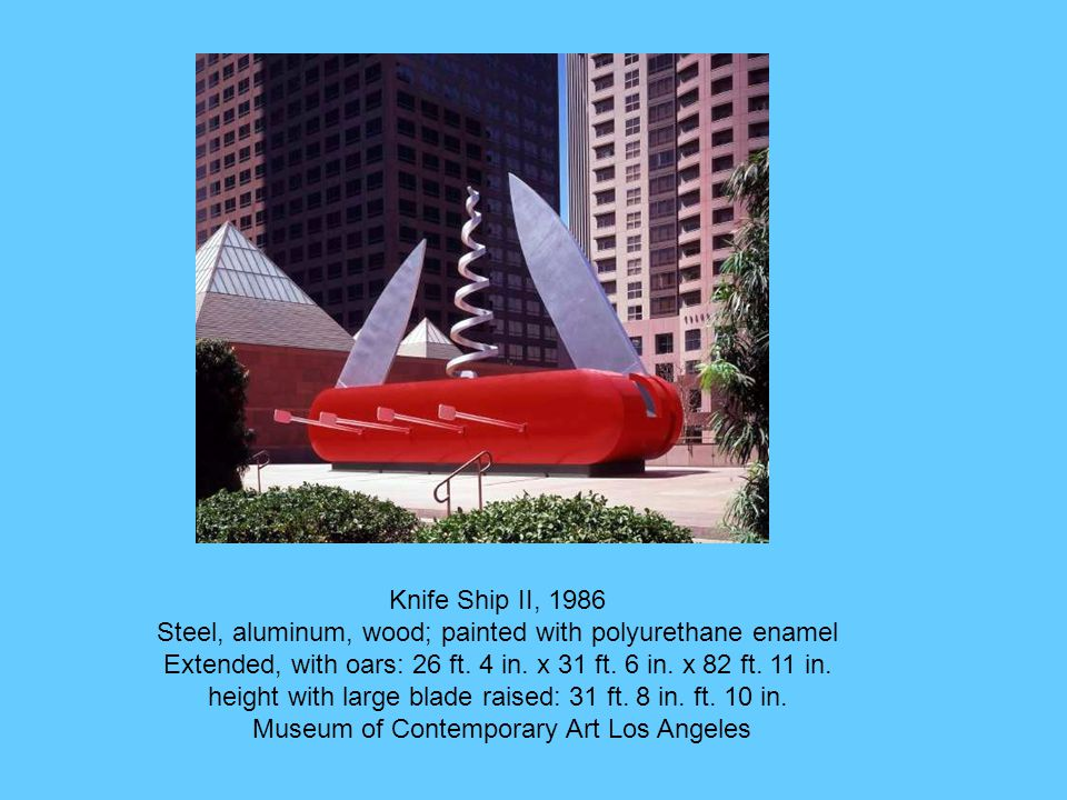 Knife Ship II, 1986 Steel, aluminum, wood; painted with polyurethane enamel Extended, with oars: 26 ft.