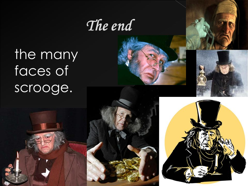 the many faces of scrooge.